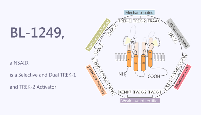 BL 1249 a NSAID is a Selective and Dual TREK 1 and TREK 2 Activator 2019 12 12 - BL-1249, a NSAID, is a Selective and Dual TREK-1 and TREK-2 Activator