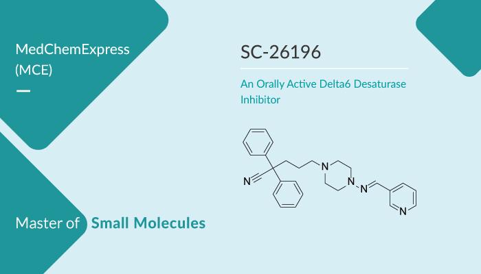 SC 26196 is an Orally Active Delta6 Desaturase Inhibitor 2019 12 26 - SC-26196 is an Orally Active Delta6 Desaturase Inhibitor