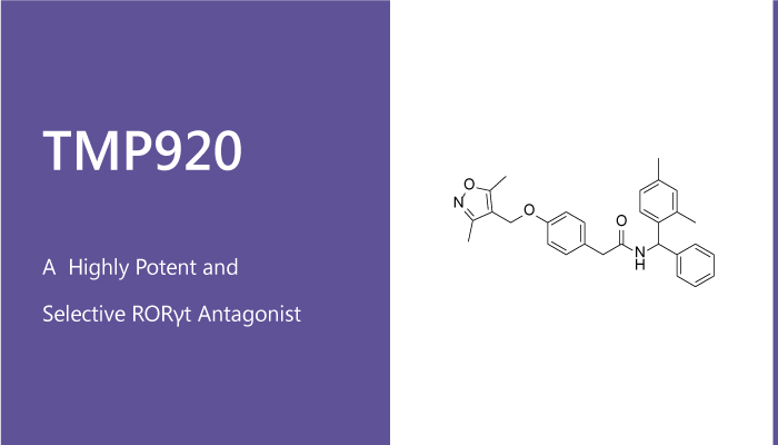 TMP920 is a Highly Potent and Selective RORγt Antagonist - TMP920 is a Highly Potent and Selective RORγt Antagonist